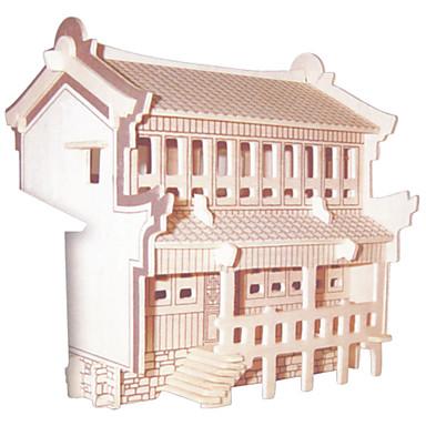 ชุด DIY 3D-puslespill Puslespill Logic & Puzzle Toys Toys Square อาคารที่มีชื่อเสียง สถาปัตยกรรมแบบจีน บ้าน สำหรับผู้ชาย สำหรับผู้หญิง