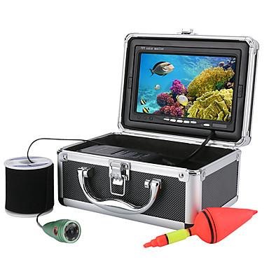 abordables Électronique & Industrie-20m 1000tvl kit de caméra vidéo sous-marine 6 pcs lumières led avec moniteur couleur 7 pouces