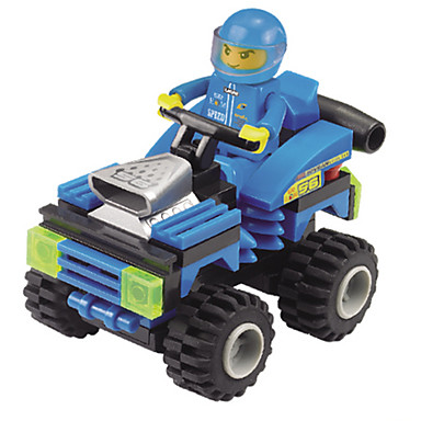 Building Blocks ของเล่นชุดก่อสร้าง ของเล่นการศึกษา 71 pcs รถยนต์ Race Car Creative DIY เด็กผู้ชาย เด็กผู้หญิง Toy ของขวัญ