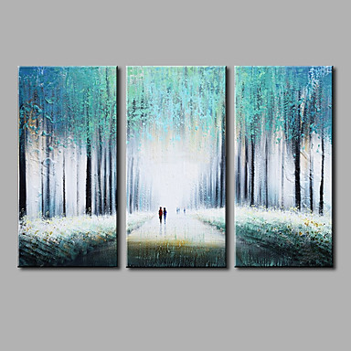 Hand Painted Abstract Modern Three Panels Canvas Oil Painting For Home Decoration 5758738 2019 103 45