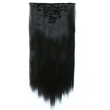 levne Syntetické příčesky-Připínací syntetický Prodloužení vlasů Prodlužování vlasů