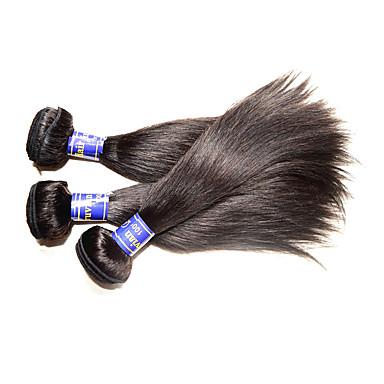 povoljno Ekstenzije za kosu-Ljudska kosa Remy umeci od ljudske kose Ravan kroj Peruanska kosa 300 g Više od jedne godine