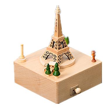 levne 3D puzzle-Music Box Modele Dřevěný model Kolotoč Veselé kolo Roztomilý Dřevo Dětské Dospělé Unisex Chlapecké Dívčí Hračky Dárek