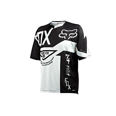 preiswerte Motorrad Jacken-Fox Motorrad Kleidung Kurzarm Sonnencreme atmungsaktive Feuchtigkeit Schweiß schnell trocknende Kleidung T-Shirt Sommer