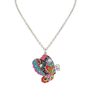 levne Dámské šperky-Pánské Dámské Náhrdelníky s přívěšky Logo Zvíře Jedinečný design Visací minimalistický styl Chrome Duhová Náhrdelníky Šperky Pro Obchod Denní Ležérní Kancelář a kariéra