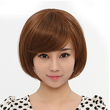 Japan And South Korea Fashion Lady Short Paragraph Wig Light Brown