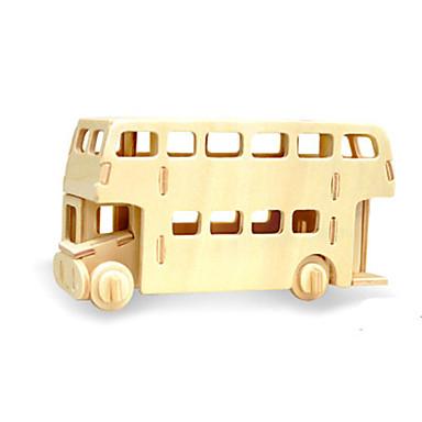 voordelige 3D-puzzels-3D-puzzels Bus Plezier Hout Klassiek Kinderen Unisex Speeltjes Geschenk