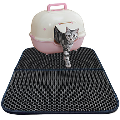 preiswerte Katzenhygiene & Weltkarten zum Auskratzen-Katze Betten Kunststoff Haustiere Matten & Polster Solide Wasserdicht Atmungsaktiv Doppel-seitig Schwarz Für Haustiere / Klappbar