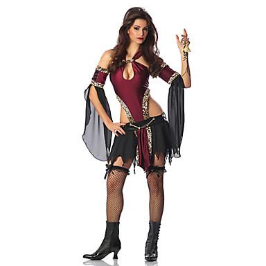 [$19.99] Déguisement Halloween Femme Pirate Costume de Cosplay Halloween  Carnaval Rouge / noir Costumes Carnaval / Coiffure