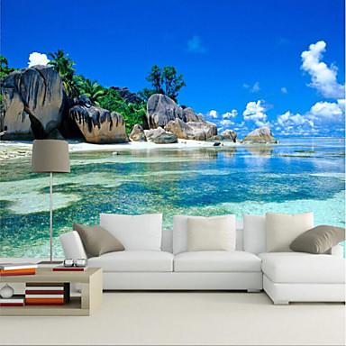 ieftine Tapet-plajă stâncoasă personalizat 3d mare de perete care acoperă perete wallpaper se potrivesc restaurant dormitor birou vedere la mare