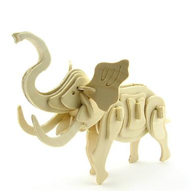 levne 3D puzzle-3D puzzle Puzzle Modele Slon Zvířata Udělej si sám Dřevěný Klasické Dětské Dospělé Unisex Chlapecké Dívčí Hračky Dárek / Dřevěný model