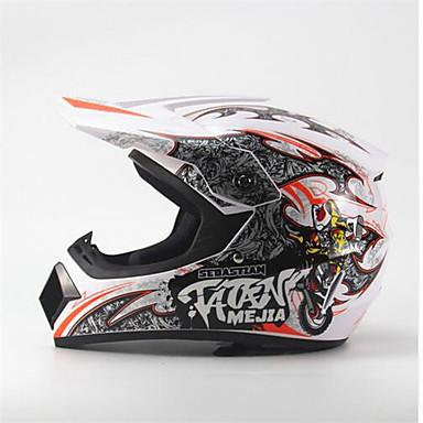 billige Motorsykkelhjelmer-ahp 225 motorsykkel motocross hjelm voksne off-road hjelm full ansikt racing stil demping / holdbar fluorescerende hvit
