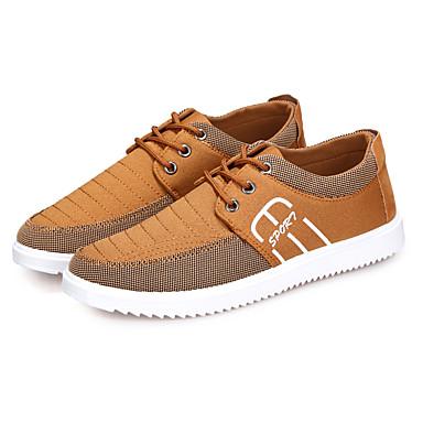 Hombre Zapatos PU Primavera / Otoño Confort Zapatillas de deporte Negro / Rojo / Caqui Is05j