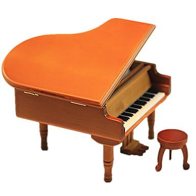 levne 3D puzzle-Music Box Modele Dřevěný model Piano Vintage retro Dětské Dárek Unisex Dárek