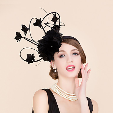 preiswerte Partyhut-Strass / Feder Kentucky Derby-Hut / Fascinatoren / Hüte mit 1 Hochzeit / Besondere Anlässe / Normal Kopfschmuck