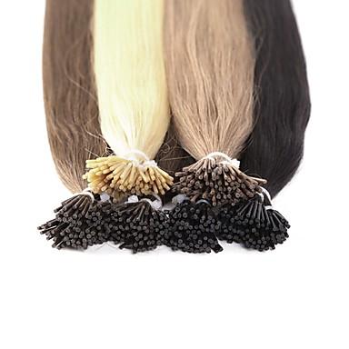 povoljno Ekstenzije za kosu-Neitsi Ekstenzije s I vrhom Proširenja ljudske kose Ravan kroj Ljudska kosa Ekstenzije od ljudske kose Žene Srednja Golden Brown