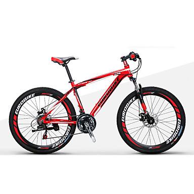 voordelige Fietsen-Mountain Bike / Vouwfietsen Wielrennen 21 Speed 27,5 Inch 1,95 inch Shimano Dubbele schijfrem Verende Voorvork Zonder demping Normale Alumiiniseos / Staal