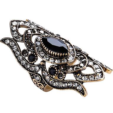 levne Dámské šperky-Dámské Vyzvánění Prsten prstenec Safír Červená Zelená Modrá Sklo Sopečné sklo Slitina Geometric Shape Prohlášení dámy Přizpůsobeno Párty Výročí Šperky Geometrické Solitaire Marquise Magie