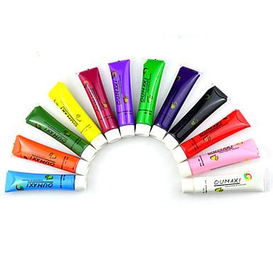 levne Náčiní a vybavení-Nástroj na nehty Pro Odolné / 12 barev nail art manikúra pedikúra malování Gel / Přizpůsobeno / Klasické Denní