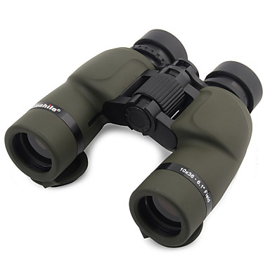 10X36mm Binoculars High Definition Folding Handheld Spotting Scope Wide Angle Military Porro Prism Roof Prism High Powered Carrying Case