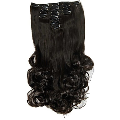 cheap Synthetic Extensions-synthetic hair false hair extensions 20inch 150g curly hairpiece heat resistant hair d1022 2