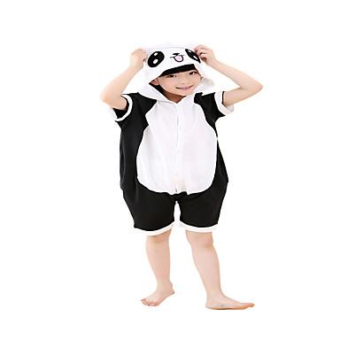 16aa38db39 Kigurumi Pijamas Para niños Oso Panda Leotardo Pijama Mono Festival Celebración  Ropa de Noche de los Animales Halloween Negro BloquesDisfraces de 5763970  ...