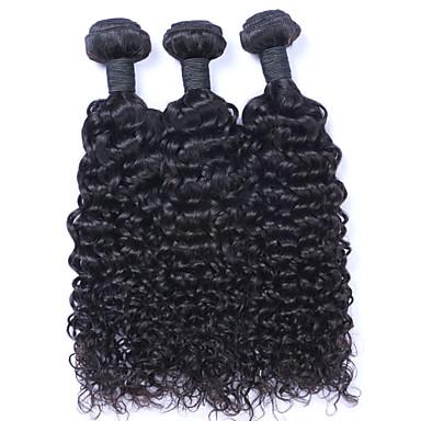povoljno Ekstenzije od ljudske kose-3 paketa Brazilska kosa Kovrčav Kovrčavog tkanja Ljudska kosa Ljudske kose plete Isprepliće ljudske kose Proširenja ljudske kose / 8A
