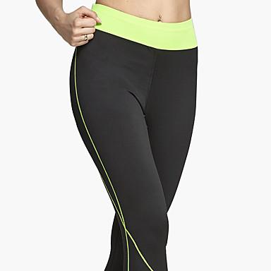 62a9f3b3e436 Dam Gymleggings Tights för jogging Andningsfunktion Mjuk Bekväm Underdelar  Yoga Motion & Fitness Fritid Sport Löpning Polyester S M L XL 5786382 2019  – ...