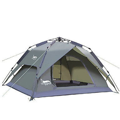 DesertFox® 3-4 persons Tent Double C&ing Tent One Room Automatic Tent Waterproof Rain-Proof for C&ing 2000-3000 mm Oxford - 5811885 2018 u2013 $49.99  sc 1 st  LightInTheBox & DesertFox® 3-4 persons Tent Double Camping Tent One Room Automatic ...