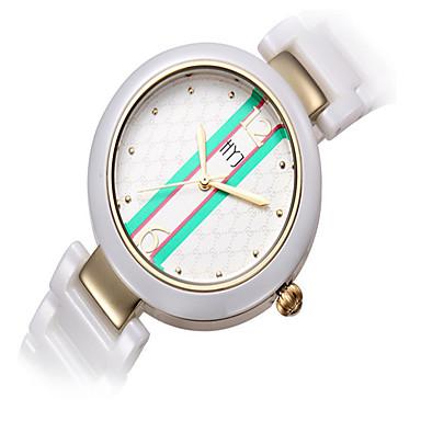 levne Pánské-Dámské Módní hodinky Křemenný Keramika Bílá Analogové Bílá