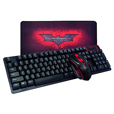 Wireless Mouse Keyboard Combo With Mouse Pad Aa Battery Gaming