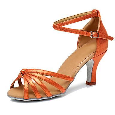 ราคาถูก รองเท้าและกระเป๋า-สำหรับผู้หญิง Carbon Fiber ลาติน ส้น ส้นแบบกำหนดเอง ตัดเฉพาะได้ กาแฟ / แดง / ฟ้า / Performance