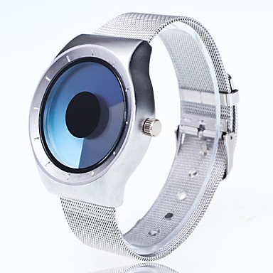 levne Pánské-Pánské Náramkové hodinky Křemenný Kov Stříbro kreativita Velký ciferník Analogové Na běžné nošení Módní Unikátní kreativní sledování Jednoduché hodinky - Světle modrá Žlutá Fuchsiová Jeden rok