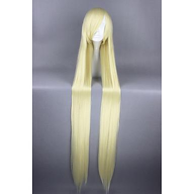 billige Kostymeparykk-Syntetiske parykker Kostymeparykker Rett Stil Parykk Blond Veldig lang Gul Syntetisk hår Dame Blond Parykk