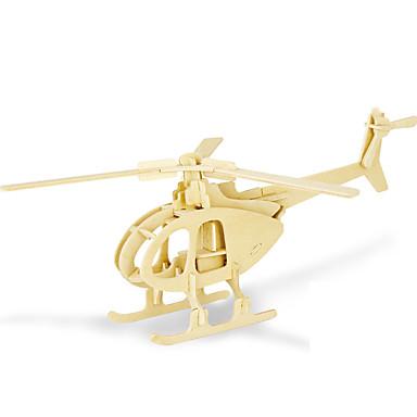 levne 3D puzzle-3D puzzle Puzzle Modele Helikoptéra Udělej si sám Dřevěný 1 pcs Klasické Dětské Dospělé Hračky Dárek
