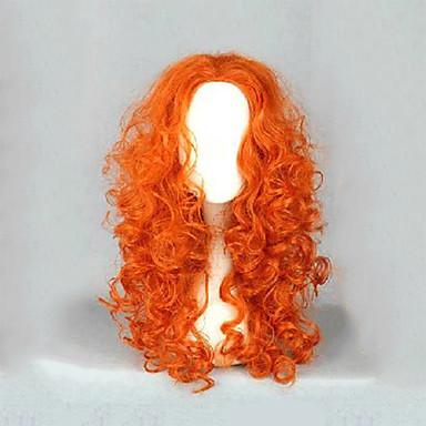 billige Kostymeparykk-Syntetiske parykker Kostymeparykker Kinky Curly Stil Parykk Blond Lang Blond Syntetisk hår Dame Blond Parykk hairjoy