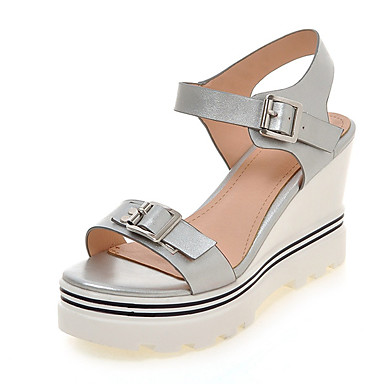 Confort Plataforma Media Sandalias Mujer Pu Paseo Verano Zapatos OCxwqA