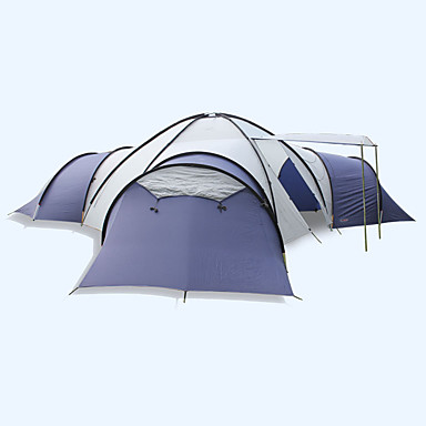 FLYTOP 8 Persons Tent Double Camping Four Rooms Family Tents Windproof Ultraviolet Resistant Foldable Breathability For 5773249 2018 16999