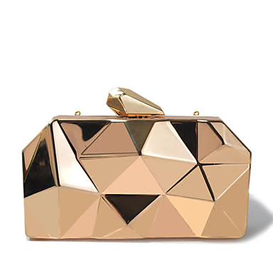 cheap Clutches & Evening Bags-Women's Chain Alloy Evening Bag Solid Colored Gold / Sillver Gray