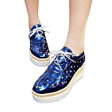 d46d523df5845 Femme Chaussures Polyuréthane Printemps Eté Automne Hiver Confort Nouveauté  Gladiateur club de Chaussures Ballerines Talon Compensé Lacet de 5846711  2019 à ...