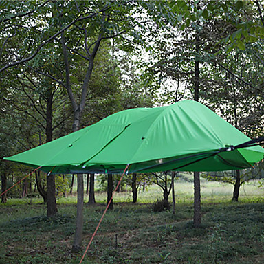 cheap Tents, Canopies & Shelters-2 - 3 person Tent Camping Hammock Outdoor Waterproof Windproof Breathable Double Layered Camping Tent 2000-3000 mm for Hiking Camping Outdoor Fiberglass Oxford 300*300*100 cm / Anti-Mosquito