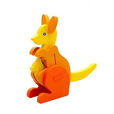 voordelige 3D-puzzels-3D-puzzels Steekpuzzels Houten modellen Kangoeroe Plezier Hout Klassiek Kinderen Unisex Speeltjes Geschenk