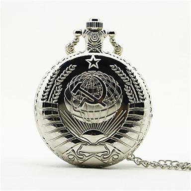 preiswerte Taschenuhr-Herrn Uhr Taschenuhr Armbanduhr Quartz Legierung Gold Armbanduhren für den Alltag Analog Charme Modisch Gold Schwarz Silber