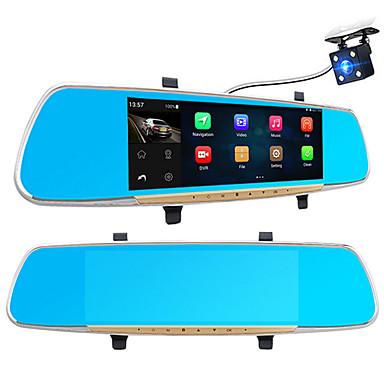 billige Bil Elektronikk-A33 1080p / Full HD 1920 x 1080 Bevegelsessensor / 1080P / Full HD Bil DVR 170 grader Bred vinkel 7 tommers IPS Dash Cam med WIFI / GPS / Night Vision Nei Bilopptaker / G-Sensor / Loop-opptak