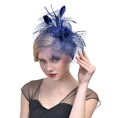 povoljno Party pokrivala za glavu-Til / Perje / Net Fascinators / Šeširi s Cvjetni print 1pc Vjenčanje / Special Occasion Glava