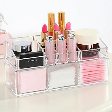 cheap Makeup & Skin Care-Makeup Tools Makeup Cosmetics Storage Makeup 1 pcs Acrylic Quadrate Daily Cosmetic Grooming Supplies