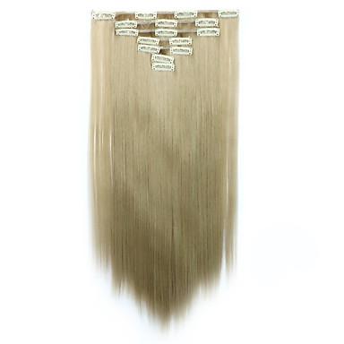 levne Syntetické příčesky-Připínací Syntetické Prodloužení vlasů Prodlužování vlasů