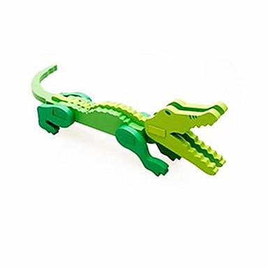 levne 3D puzzle-3D puzzle Pro šikovné ručičky Dřevěný model Krokodýl Zábava Dřevo Klasické Dětské Unisex Hračky Dárek