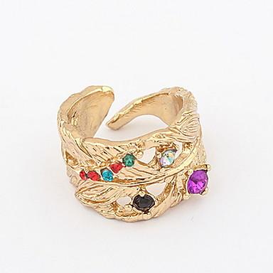 levne Pánské šperky-Pánské Dámské Band Ring Prsten prstenec Zlatá Štras Slitina Prohlášení Přizpůsobeno Jedinečný design Vánoční dárky Svatební Šperky Logo Přátelé Zvíře Rozkošný Udělej si sám Odolné