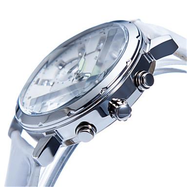 levne Pánské-Dámské Módní hodinky Křemenný Kůže Bílá / Červená 30 m Kalendář Chronograf Svítící Analogové Bílá Červená